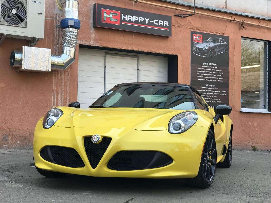 Alfa Romeo 4C детейлинг химчистка
