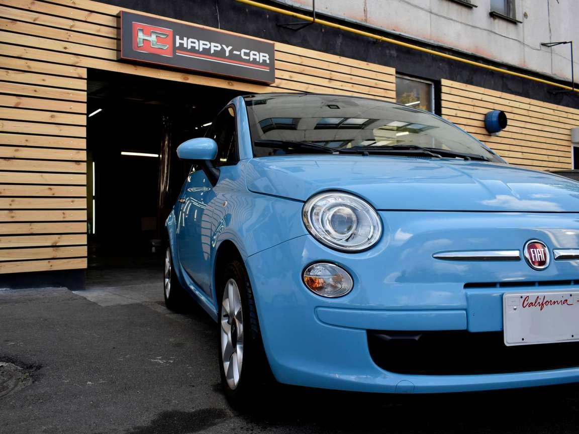 Fiat 500 C детейлинг химчистка
